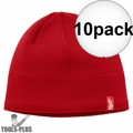 Milwaukee 502R Red Fleece Lined Beanie 10x