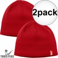 Milwaukee 502R Red Fleece Lined Beanie 2x