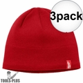 Milwaukee 502R Red Fleece Lined Beanie 3x