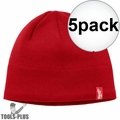 Milwaukee 502R Red Fleece Lined Beanie 5x