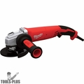 "Milwaukee 6124-30 5"" 13 Amp Small Angle Grinder Trigger Grip, Lock-On"