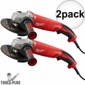 "Milwaukee 6124-31 5"" 13 Amp Trigger Switch Small Angle Grinder 2x"