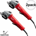 "Milwaukee 6141-30 11 Amp 4-1/2"" Angle Grinder (Paddle, Lock-On) 2x"