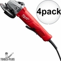 "Milwaukee 6141-30 11 Amp 4-1/2"" Angle Grinder (Paddle, Lock-On) 4x"