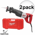 "Milwaukee 6519-31 Sawzall Recip 1-1/8"" Stroke,12 Amp, 0-3,000 SPM Kit"