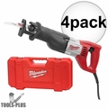 "Milwaukee 6519-31 Sawzall Recip 1-1/8"" Stroke,12 Amp, 0-3,000 SPM Kit 4x"