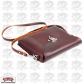 Occidental Leather 1155 Premium iPad Carry Messenger Case Oxblood Leather
