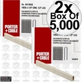 "Porter-Cable PNS18050 5,000pk 1/2"" x 1/4"" 18 Gauge Narrow Crown Staples 2x"