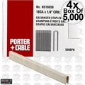 "Porter-Cable PNS18050 5,000pk 1/2"" x 1/4"" 18 Gauge Narrow Crown Staples 4x"
