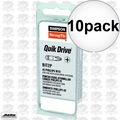 Quik Drive BIT2P-RC10 10pk #2 Phillips Head Insert Bits