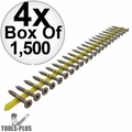 "Quik Drive CB3BLG114S 1-1/4"" x #10 Fiber Cement Backerboard Screw w/2bits 4x"