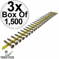 "Quik Drive CB3BLG114S 1-1/4""x#10 Fiber Cement Backerboard Screws w/2 bits 3x"