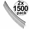 "Quik Drive DSVT2S 1500pk 2"" T25 Torx Drive Collated Strip Screws + 2 Bits 2x"