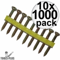 """Quik Drive WSNTL134S 2000pk 1-3/4"""" Square Drive Collated Screws + 2 Bits 10x"""
