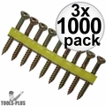 """Quik Drive WSNTL134S 2000pk 1-3/4"""" Square Drive Collated Screws + 2 Bits 3x"""