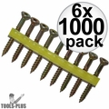 """Quik Drive WSNTL134S 2000pk 1-3/4"""" Square Drive Collated Screws + 2 Bits 6x"""