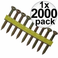 "Quik Drive WSNTL134S 2000pk 1-3/4"" Square Dr Collated Strip Screws + 2 Bits"