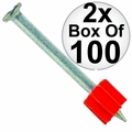 "Ramset 1524 2x Box of 100 3"" Head Drive Powder Fastener"