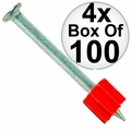 "Ramset 1524 4x Box of 100 3"" Head Drive Powder Fastener"