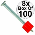 "Ramset 1524 Box of 100 3"" Head Drive Powder Fastener 8x"