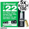 "Ramset 32CW Box of 100 #3 ""Green"" 22 cal Single Shot Loads 5x"