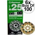Ramset 3D60 10 Discs of 10 (600 total) #3 Green 25cal Round Disc Loads 6x