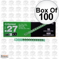 "Ramset 3RS27 Box of 100 #3 ""Green"" 27 cal Strip Loads"