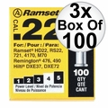 "Ramset 42CW 3x Box of 100 #4 ""Yellow"" 22 cal Single Shot Loads"