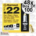"Ramset 42CW 48x 100pk #4 ""Yellow"" 22 cal Single Shot Loads"