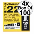 "Ramset 42CW 4x Box of 100 #4 ""Yellow"" 22 cal Single Shot Loads"