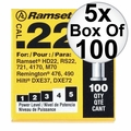 "Ramset 42CW 5x Box of100 #4 ""Yellow"" 22 cal Single Shot Loads"