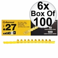 "Ramset 4RS27 6x Box of 100 #4 ""Yellow"" 27 cal Strip Loads"
