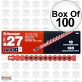 "Ramset 5RS27 Box of 100 #5 ""Red"" 27 cal Strip Loads"