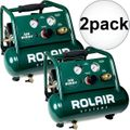 Rolair AB5 1/2 HP Air Buddy Super Quiet Oil-Less Air Compressor 2x