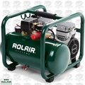 Rolair JC10PLUS 1HP Air Compressor Ultra Quiet 2-cyl 125psi + Rgltr <39lbs