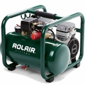 Rolair JC10PLUS-P1 1HP Compressor Ultra Quiet 2-cyl 125psi + Rgltr <39lbs OB