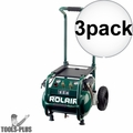 Rolair VT25BIG 2.5 HP 115V 6.5 CFM@90PSI, 5.3G Compressor Folding Handle 3x