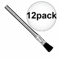 "Sait 00501 12x 3/8"" Acid Brush Metal Handle Flux/Hobby/Pro"