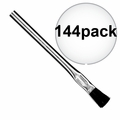 "Sait 00501 144pk 3/8"" Acid Brush Metal Handle Flux/Hobby/Pro"