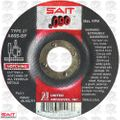 "Sait 20913 4-1/2"" x .090"" x 5/8-11 General Purpose Metal Cutting Wheel"
