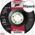 "Sait 22021 50pk 4-1/2"" x 7/8"" x .045"" Metal Cutting Wheel"