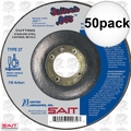 "Sait 22072 50pk 4-1/2"" x 7/8"" x .045"" Depressed Metal Cutting Wheel"