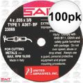 "Sait 23069 4"" x 3/8"" x .035"" Thin Metal Cutting Wheel 36 grit 100x"