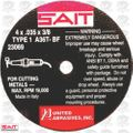 "Sait 23069 4"" x 3/8"" x .035"" Thin Metal Cutting Wheel 36 grit"