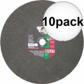 "Sait 23458 14"" x 1/8"" x 20mm Ductile Portable Cut-Off Wheel 10x"