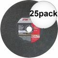 "Sait 24035 25pk 10"" x 5/8"" x 3/32"" Stud King Metal Cutting Wheel"