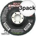 Sait 71205 3x Encore T27 General Purpose Zirconium Flap Discs 36 Grit, 10pk