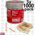 "Senco 08F150Y 1000pk #8 x 1-1/2"" Square Head Flooring Screws 3x"