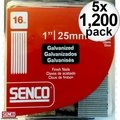 "Senco A401009 1200pk Galvanized Finish Nails 16 Gauge x 1"" 5x"
