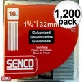 Senco A401259 1200pk Galvanized Finish Nails 16 Ga. x 1-1/4""